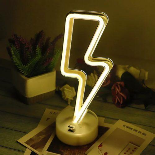 LED Neon Lightning Bolt Lamp