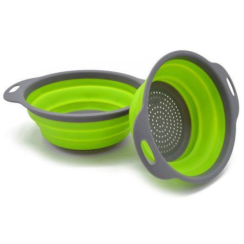 Collapsible Kitchen Colander Drain Basket