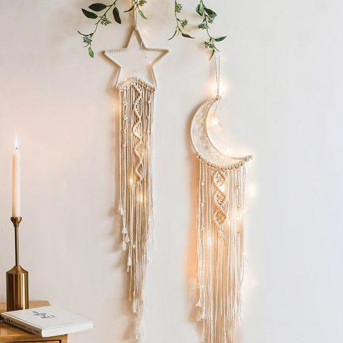 Handmade Macrame Woven Wall Hanging Dream Catcher