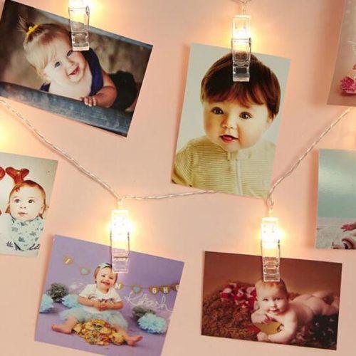 LED Photo Clip String Lights Home Decor