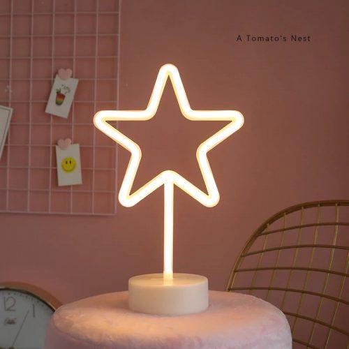 LED Star Neon Light