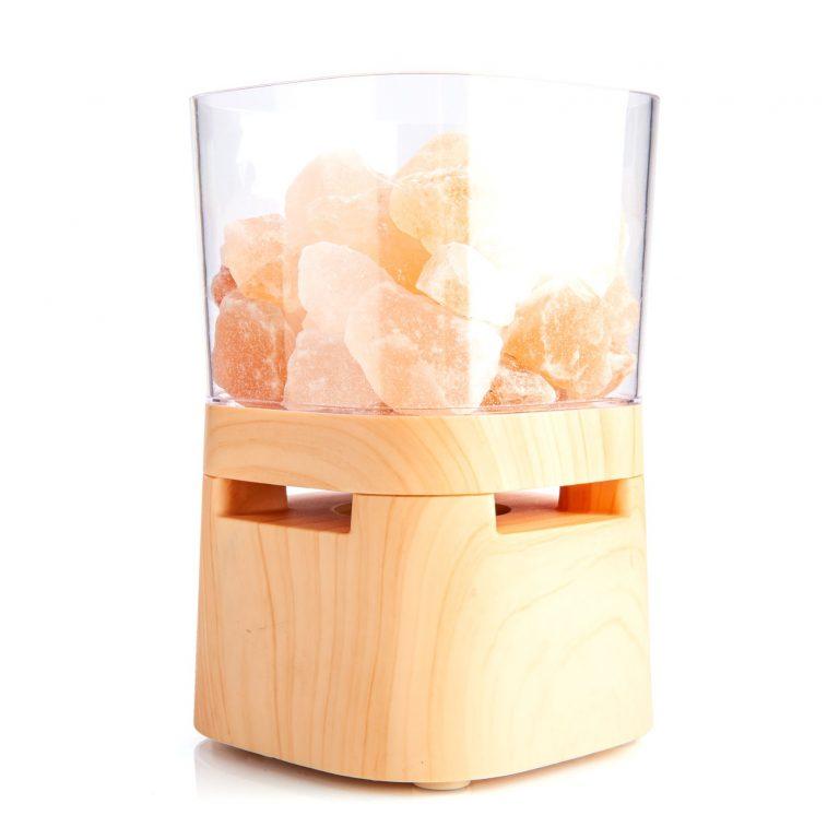 AuraSong Himalayan Salt Lamp & Bluetooth Speaker