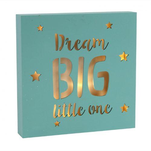 """""""Dream Big Little One"""" Led Light Box"""