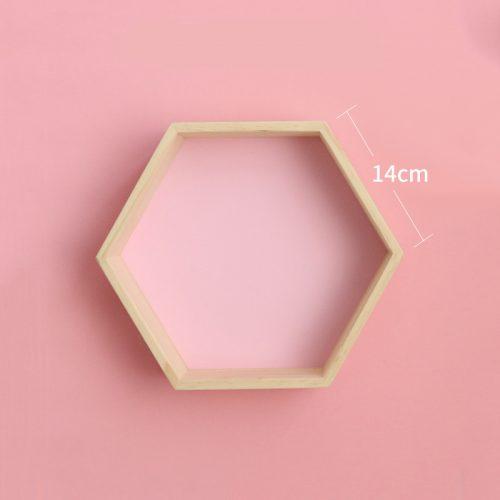 Modular Wooden Shelving – Pink Medium