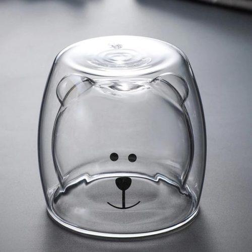 Cute Bear Double Walled Glass