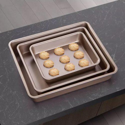 Deep Nonstick Rectangle Baking Pans 3PC Set