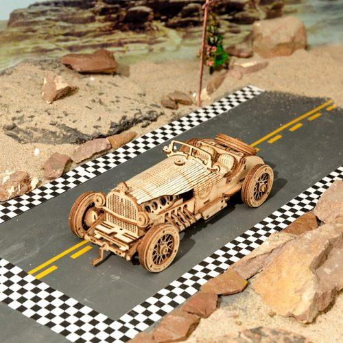 ROKR Grand Prix Car Wooden 3D Puzzle