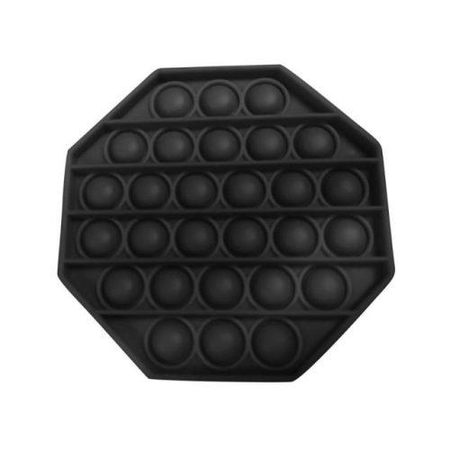 Pop It Bubble Fidget Toy - Octagon Black