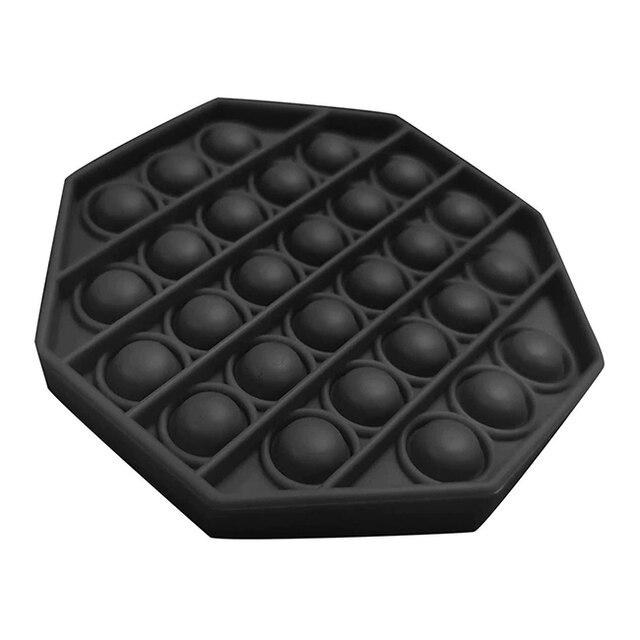 Push And Pop Bubble Fidget Toy - Octagon Black
