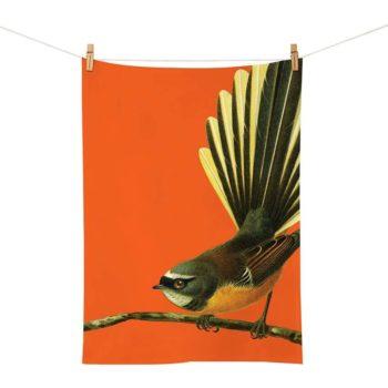 Bright Fantail Tea Towel