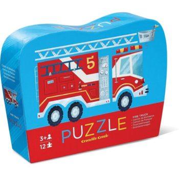 Mini Shaped Puzzle 12pc - Fire Truck