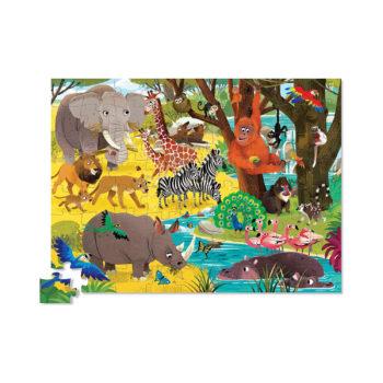Jr. Shaped Puzzle 72pc - Wild Safari