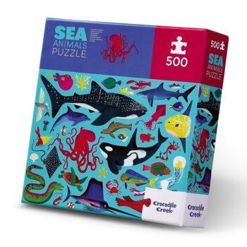 500pc Family Puzzle - Sea Animals