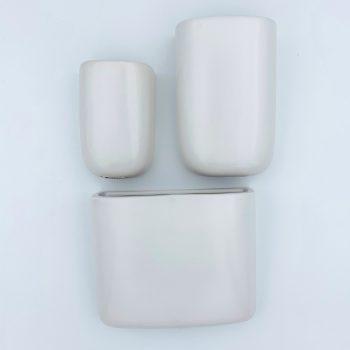 Malmo Wall Planters - White