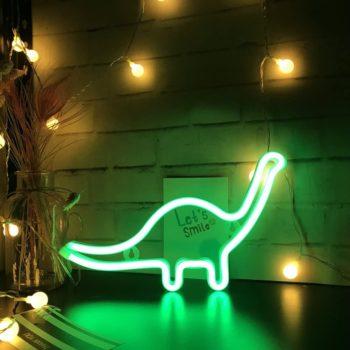 LED Dinosaur Neon Sign Light