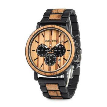Men's Wooden Chronograph Watch