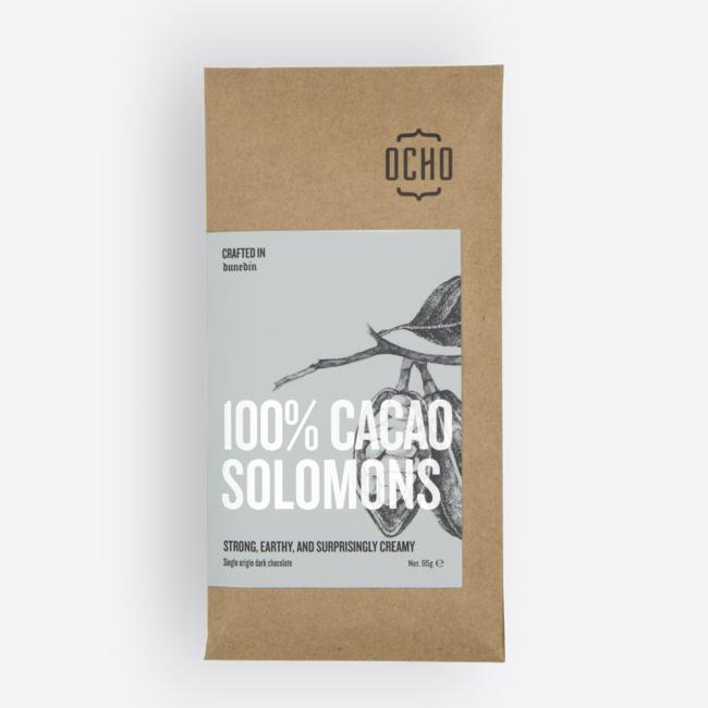 Ocho Chocolate Bar - 100% Cacao Solomons 95g