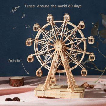 Rolife Ferris Wheel Wooden Music Box 3D Puzzle