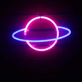 LED Planet Neon Sign Light