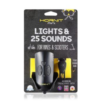 Mini Horn & Bike Light - Black