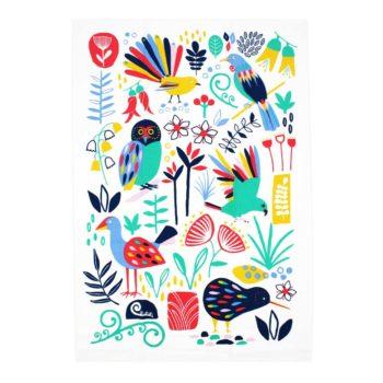 New Zealand Tea Towel - NZ Flora & Fauna