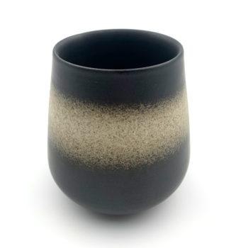 Vintage Japanese Style Teacup - Dark Grey